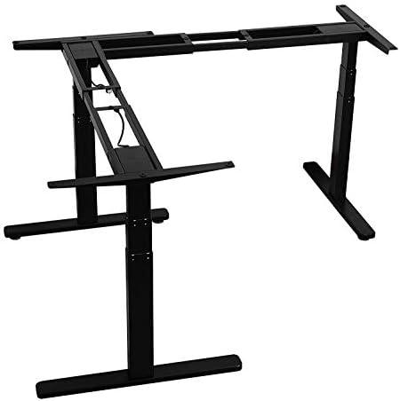AVLT Electric L Shape Desk Supports 264 LB Height Adjustable L Shaped Standing Desk Frame 3 product image