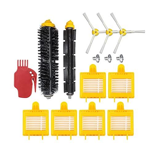 Moye Kit de piezas de repuesto para iRobot Roomba serie 700, kit de piezas de repuesto para aspiradora con 2 cepillos principales, 3 cepillos laterales, 6 filtros, 1 cepillo principal de limpieza