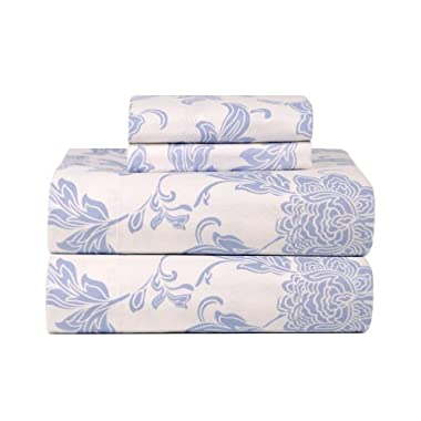 Celeste Home Ultra Soft Flannel Sheet Set with Pillowcase, Queen, Corsage