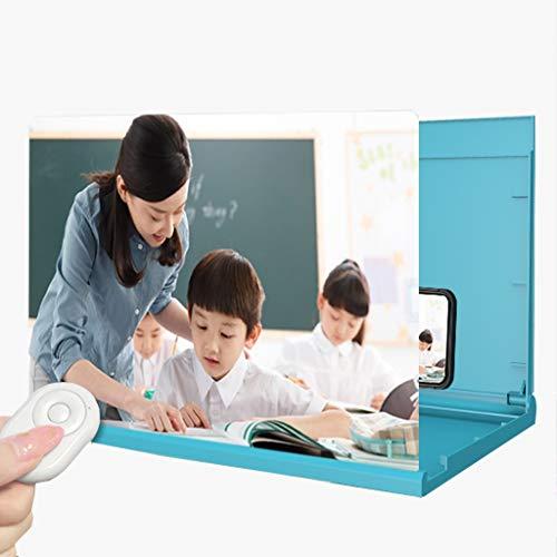 16 Inch Scherm Van De Telefoon Versterker Beschermt De Ogen, Scherm Vergrootglas Stralingsbescherming For Studenten Online Lessen, 6D HD-film Video Vergroter Projector, Remote/Sound
