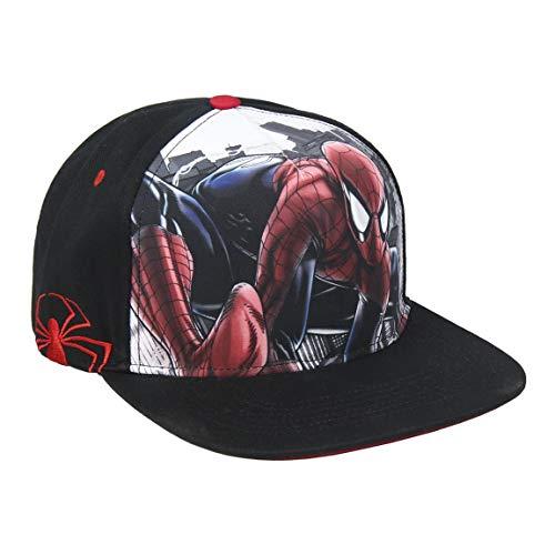 Artesania Cerda Jungen Gorra Visera Plana De Spiderman Schirmmütze, Schwarz (Negro Negro), Medium (Herstellergröße: 56)