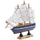 yotijar Modelo de Barco de Madera Colección de Juguetes Pasatiempo Educativo Velero Antiguo