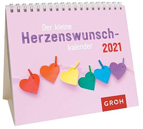 Der kleine Herzenswunschkalender 2021: Mini-Monatskalender. Kleiner Aufstellkalender mit Monatskalendarium