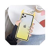 透明グラデーション3DデビルホーンFor iPhoneケース1211 Pro Max X XR XS Max 7 8 6SPlus耐衝撃性アクリルバックカバー-T4-For iphone 11Pro