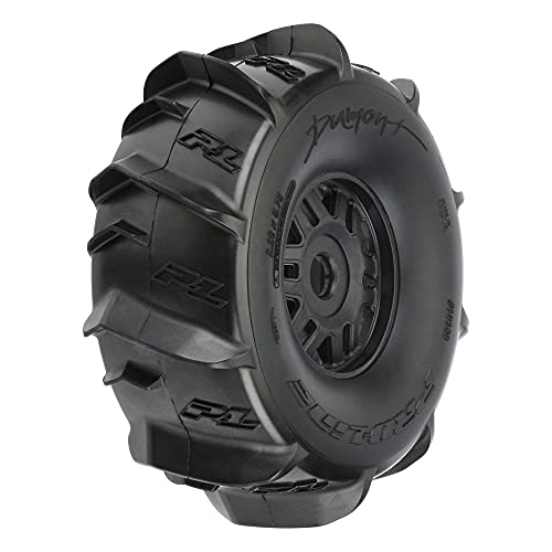 Pro-line Racing 1/7 Dumont Fr/Rr Sand/Snow Mojave Tires Mounted 17mm Blk Whls (2), PRO1018910