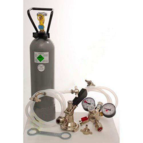 ich-zapfe Kit de Accesorios Kontakt 2 grifos, 2 adaptadores de 5 litros, Grifo de Cerveza y Botella de Co2 de 2 kg