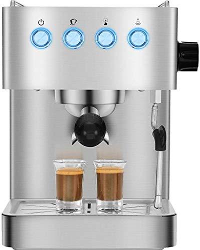 Couy Doost Italiaanse handmatige espressomachine, roestvrij staal, stille werking pomp en filter voor thuis en op kantoor, voor cappuccino, latte en mokka
