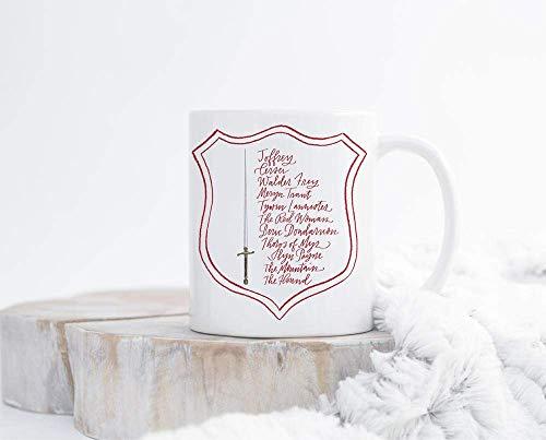 N\A Taza Juego de Tronos Arya Stark House Stark Lista de Aryas Arya Tiene Tazas Taza Arya Taza Arya Stark Ideas de Regalos Feministas Taza Programa de televisión
