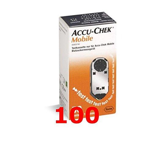 ACCU Chek mobil - 50 Kassette test für Kontrolle von Blutzucker - accucheck