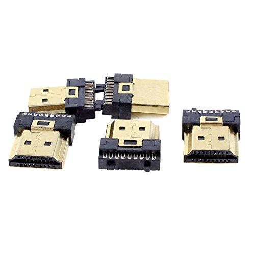 Uxcell a13110700ux0269 - Kit de reparación de terminación de Soldadura (Conector HDMI Macho de 19 Pines, Tipo A, 5 Unidades)