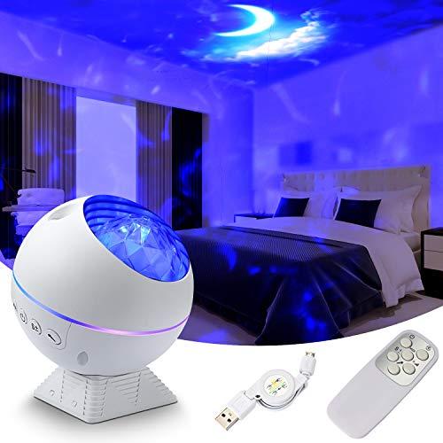 Sternprojektor Nachtlicht für Schlafzimmer,Fuloon Projektor Sternprojektor Galaxy Light Galaxy LED Lampe für Decke/Party/Heimkino/Auto Dekoration, tolles Geschenk für Weihnachten/Valentinstag