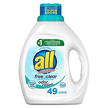All Liquid Laundry Detergent Free Clear With Odor Relief 49 Loads 88 Fluid Ounce
