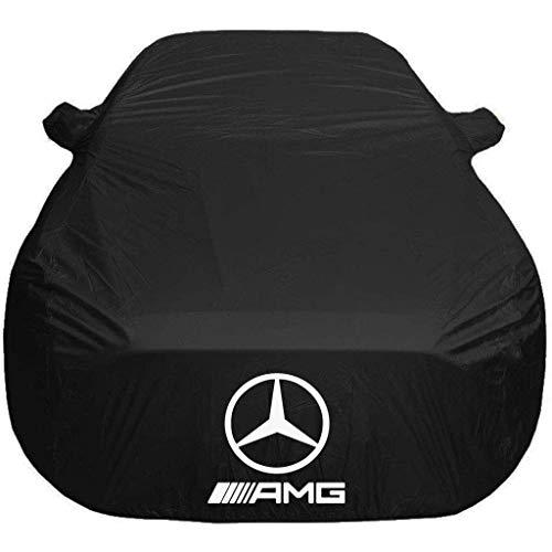 WINKE Telo Copriauto Compatibile con Mercedes AMG CLS,SLC,SLS,SLK Telo Copriauto da Esterno Protezione per Qualsiasi Tempo Impermeabile e Antipolvere,ECC,Nero,SLC