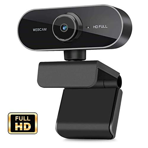 Webcam with Microphone 1080P HD Webcam Streaming Computer Web Camera USB Wide Angle Computer Camera for Mac YouTube Skype OBS Laptop Desktop Webcam for Video Calling Gaming Recording Conferencing