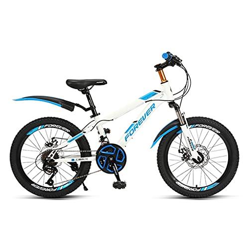 ZXQZ Bicicleta de 24 Velocidades, Bicicletas de Montaña Rígidas de 20/22 Pulgadas con Cojín de Asiento Ajustable, para Hombre y Mujer (Color : Blue, Size : 20in)