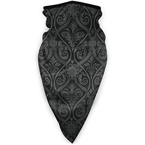 NR Calentador de cuello de esquí para hombre, mujer, niño, niña, estilo barroco, suave, ombre gótico Color 01 Talla única