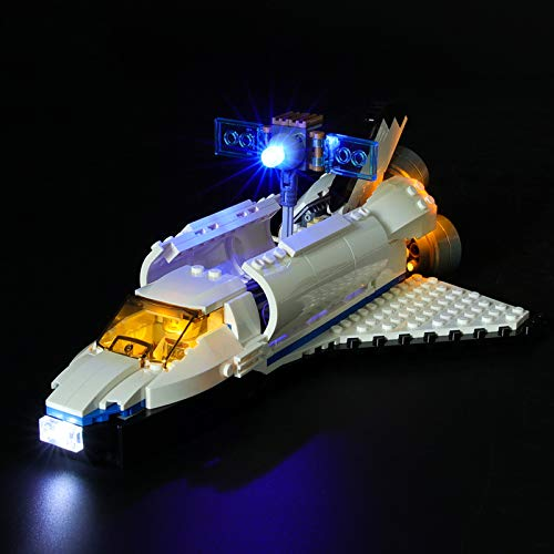Kit De Iluminación Led para Lego Creator Lanzadera Espacial, Compatible con Ladrillos De Construcción Lego Modelo 31066(NO Incluido En El Modelo)