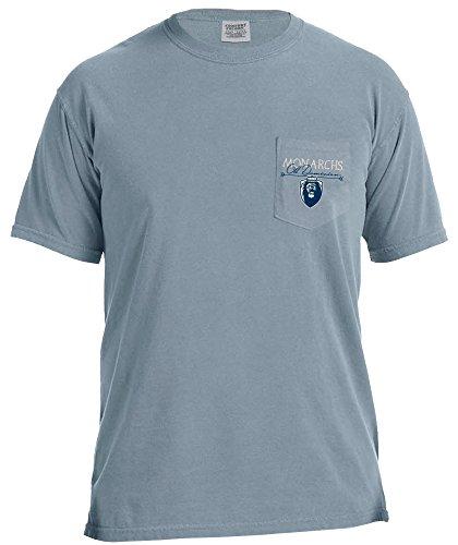 Image One Unisex Advetures NCAA Adventures Camiseta de Manga Corta con Bolsillo de Color, Azul Hielo, L