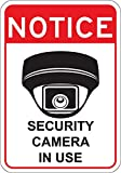 Video Surveillance Security Camera in Use Sign 7' x 10' aluminum. Won't rust. CCTV Security Camera Sign. Pre-drilled holes for easy installation