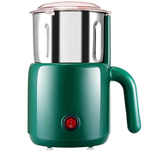 LESIXW Kaffeemühle Elektrische Multifunktionale High-Power Edelstahl Küchenbüro Mühle,Grün