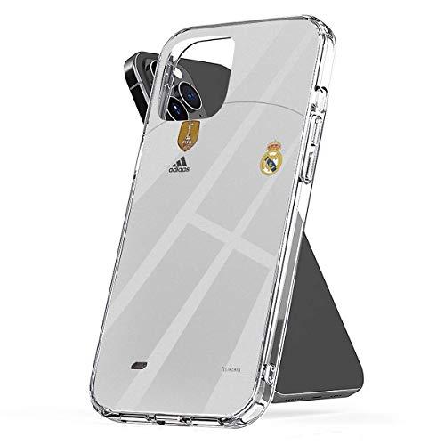 Compatibile con iPhone 12/12 Pro Max 12 mini 11 Pro Max SE X/XS Max XR 8 7 6 6s Plus Caso Madrid Home Jersey Caso 2018-2019 Pure Clear Cabina telefonica