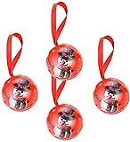Paquete de 4 latas de metal navideñas Caja de galletas Tarro Contenedores de almacenamiento de dulces Galletas Lata para regalos de fiesta de Año Nuevo de Navidad - Muñeco de nieve