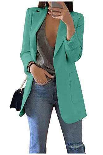 comprar Blazer - Chaqueta de manga larga para mujer, elegante y de manga larga, estilo casual, ideal para la oficina verde S