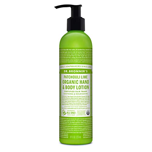 in budget affordable Dr. Bronner-Organic Lotion (Lime Patchouli, 8 oz) -Body Lotion & Moisturizer, Certified …