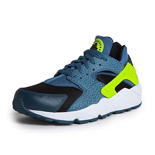 Nike Mens Air Huarache Space Blue and Volt Trainer 318429 043 Size 9.5 UK