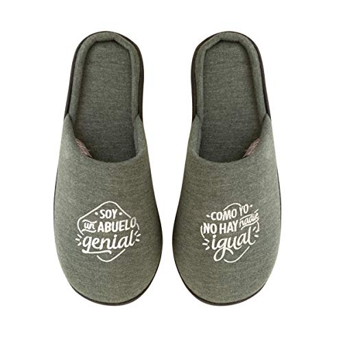 Mr. Wonderful WOA3734ES Zapatillas de Casa 44-47 - Soy un Abuelo Genial