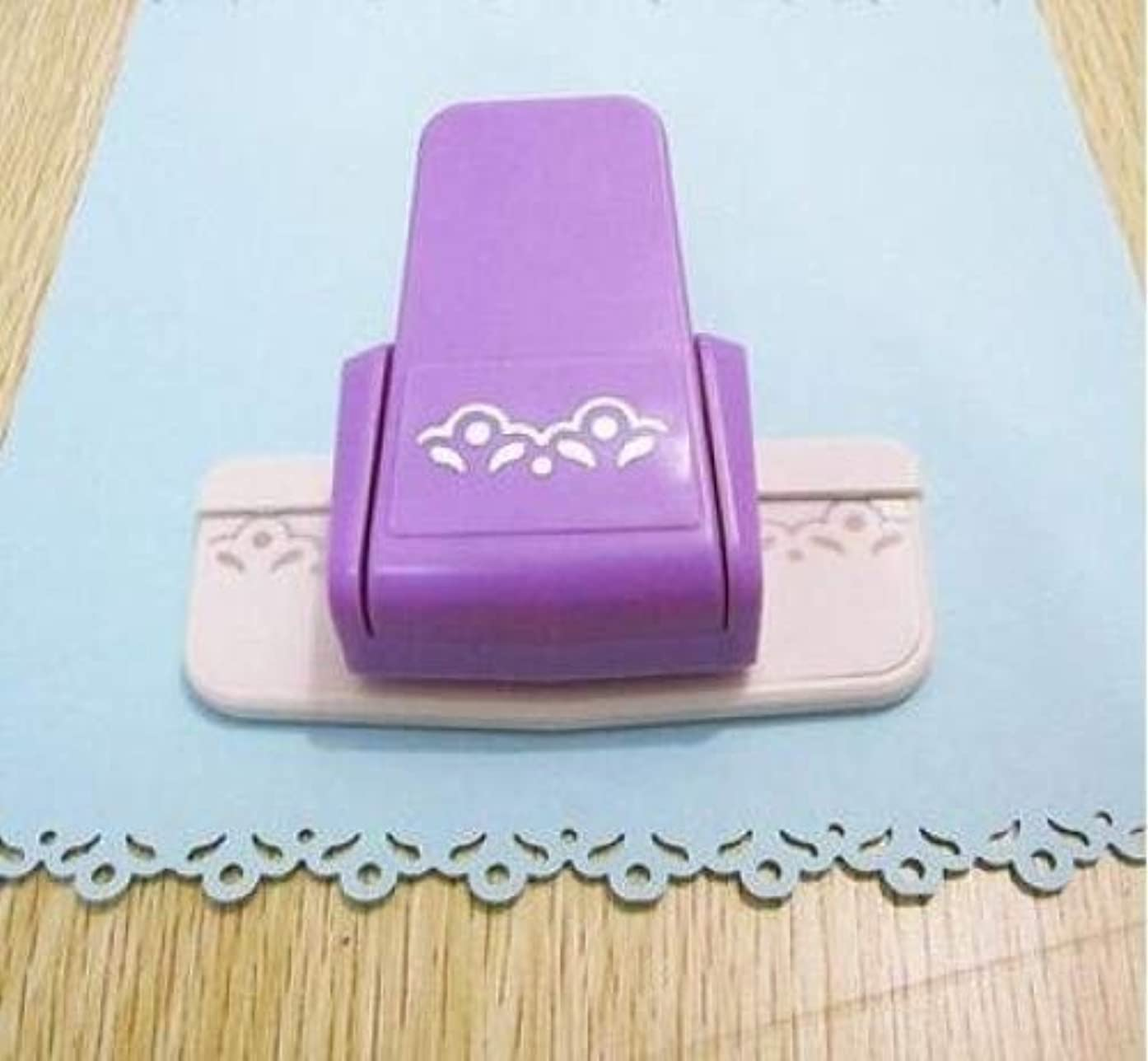 Fascola 1 pcs New fancy border punch S flower design embossing Punch scrapbooking handmade edge device DIY paper cutter Handmade Craft gift (Style 1)