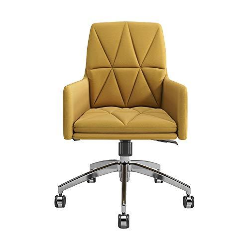 Kruk MEIDUO stijlvolle stof bureaustoel, draaibare computer stoel verstelbare bureaustoel met dubbele laag katoen kussen, Comfy rugleuning, Home Office Meubels