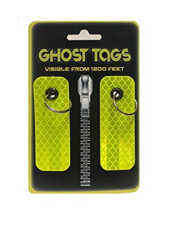 GHOST TAGS - Kids Backpack & Jacket Safety Reflector VISIBLE FROM 1200 FEET!