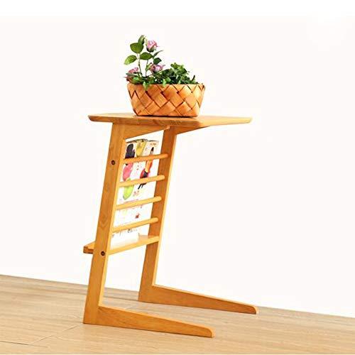 FEI Plateau amovible en bois TV/Snack / End/Canapé / Console Console Ordinateur portable pour lit Canapé Manger Écriture Lecture Salon (Couleur : Couleur du bois)