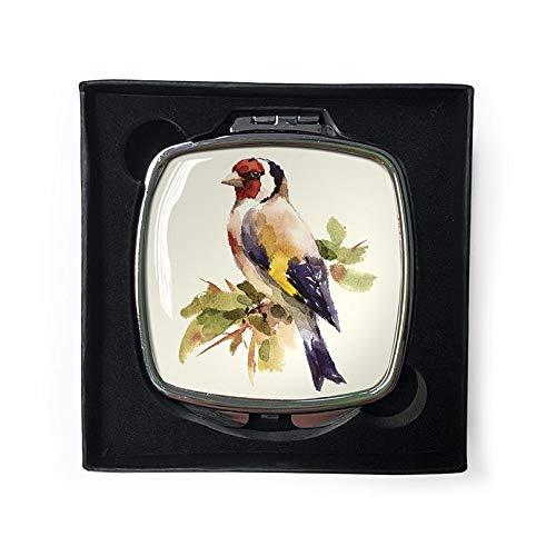 Gardens2you - Specchio tascabile con uccellini, in confezione regalo