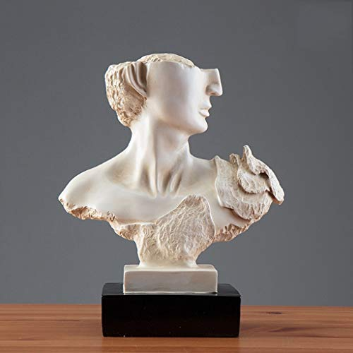 Desktop-Skulptur Gesichtsharz Abstrakte Skulptur Kreative Persönlichkeit Des Modernen Minimalistischen Wohnzimmer Schreibtisch Hauptdekorationen Handwerk Ornamente