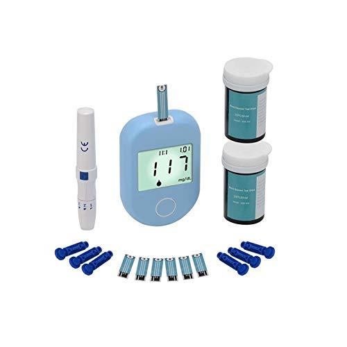 CZWNB Blood Glucose Meter, Glucómetro de Sangre Smart Auto-codificación de automóviles Tiras de Prueba de glucosa y lancetas rápidas