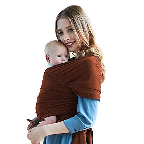 AiYannis6. Baby Sling Wrap Carrier,All Cloth Baby Wrap Small to Plus Size Baby Sling Baby Carrier Nursing Cover Wrap Best (Coffee, OneSize)