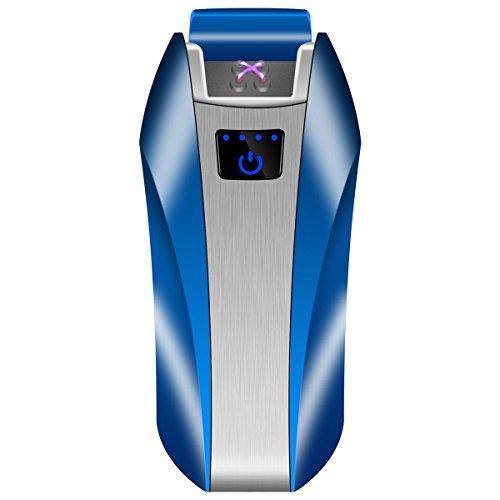 Encendedor electrónico de doble arco encendedor USB eléctrico encendedor de plasma recargable sin llama a prueba de viento táctil Swich encendedor bueno para cigarrillo vela tubo