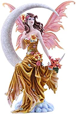 Pacific Giftware Four Elements Celestial Moon Fairy Figurine Earth Wind Frost Fire Collectible Figurine Nene Thomas Art Inspi