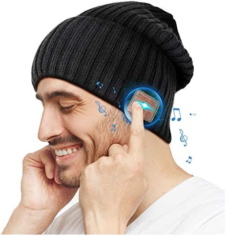 EverPlus Bluetooth Beanie Hat Gifts for Men Women with Wireless Bluetooth 5 0 Winter Hat Built product image