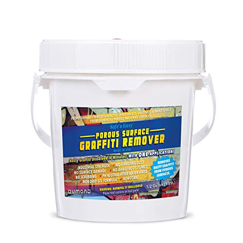 Safe 'n Easy Graffiti Remover, Spray Paint Remover, Industrial Strength Non-Toxic Gel Removes Paint, Marker, Coating from Unfinished Wood, Brick, Concrete and Most Porous Surfaces (1/2 Gallon)