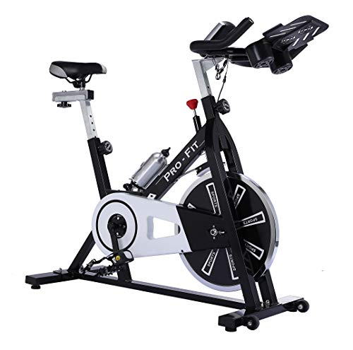 UK Fitness Indoor Exercise Bike Indoor Cycling Cardio Work Out Cycle 13kg Fly Wheel Includes Membership to Studio SWEAT onDemand classes
