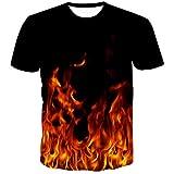 Sykooria 3D Digital Unisex Camisetas de Manga Corta Casual Camisas Deportivas Sport Graphics tee ara Hombres