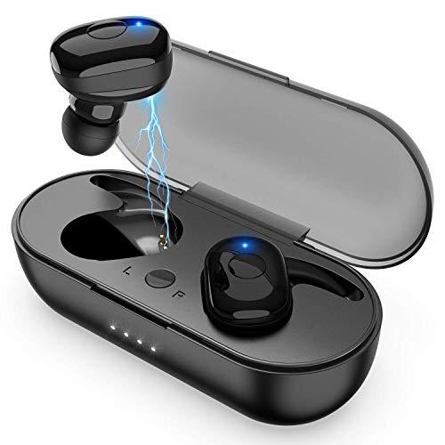 Cuffie Bluetooth Sport   Senza Fili con Custodia di Ricarica 1200mAH