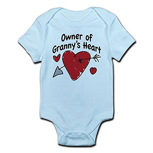 ABADI Ägare av mormors hjärta spädbarn kroppsdräkt bebis kroppsdräkt