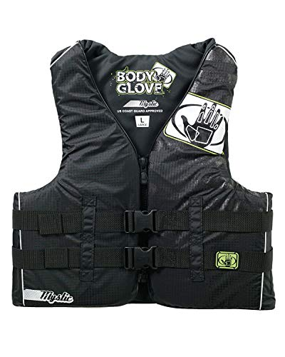 Mystic Teen Nylon USCGA Vest - XS- Black - Adult Water Life Jacket Vest for Extreme Sports Boat Kayak Paddling Use and Safety Sports Vests for Men and Women