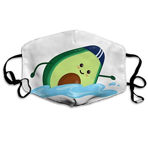 zhouyongz Schwimmen Avocado Customized Washable Wiederverwendbare Sicherheit Atmungsaktiv. &mal. in, verstellbare Ohrringe für tägliche Aktivitäten