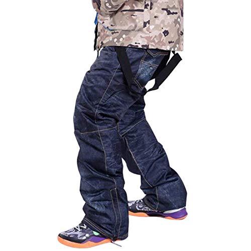 Denim Skibroek voor dames casual jeans ski- en snowboardbroek, warm skiingbroek, snowboard voor mannen en vrouwen