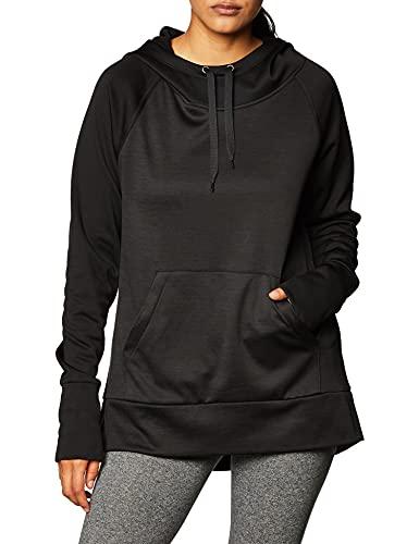Hanes Women's Sport Performance Fleece Pullover Hoodie, Black Solid/Black Heather, M